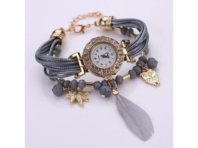 2019 Luxury Quartz Las Watch Women Feather Bracelet Watches Female Fashion S Clock Montre Femme Bayan Saat Gift