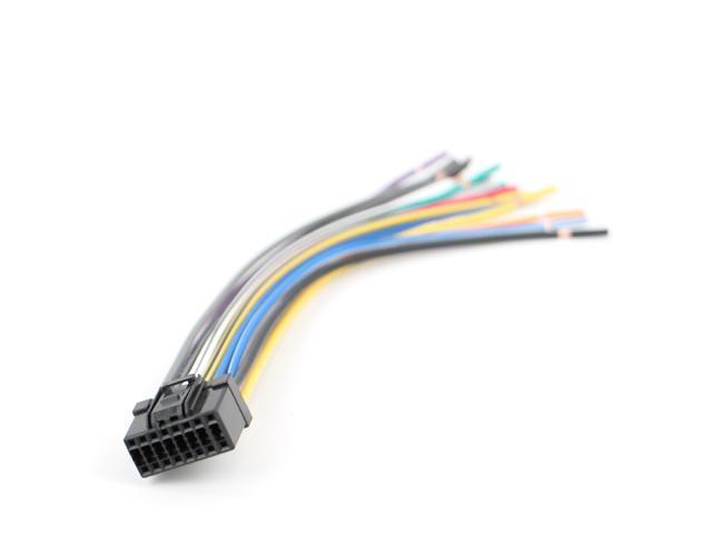 xtenzi 16 pin radio wire harness for pioneer deh p7800mp deh p780mp rh newegg com Car Stereo Color Wiring Diagram Pioneer Radio Wiring