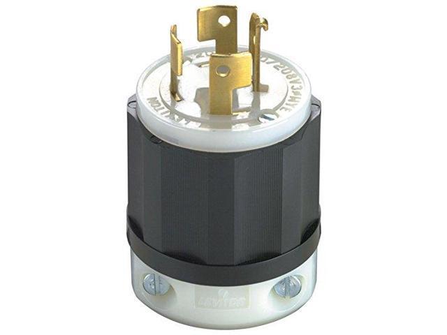 Leviton 7411-C 20-Amp, 120/208-Volt, 3PY, Locking Plug, Industrial ...