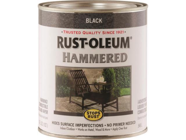 Rustoleum Stops Rust Oil Based Rust Preventive Paint 1 Qt Can 75 150 Sq Ft Qt Black