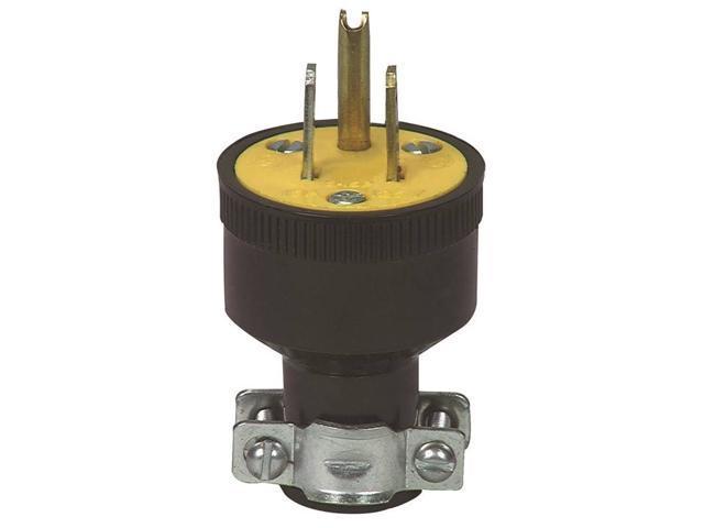 Black Straight 3wire Plug Cooper Wiring Cord Ends Male 110v Bp1709 032664125003 Newegg Com