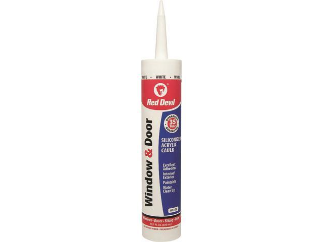 House & Home Restore EZ SQUEEZE 0846 Window and Door Siliconized Acrylic  Caulk, 10 1 oz, HDPE Cartridge, White - Newegg com