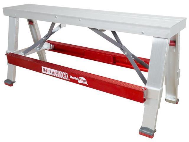 Pleasing Metaltech I Bmdwb18 Adjustable Heavy Duty Drywall Bench 18 30 In H X 48 In W 48 In W X 17 1 2 In D Closed 500 Lb Newegg Com Machost Co Dining Chair Design Ideas Machostcouk