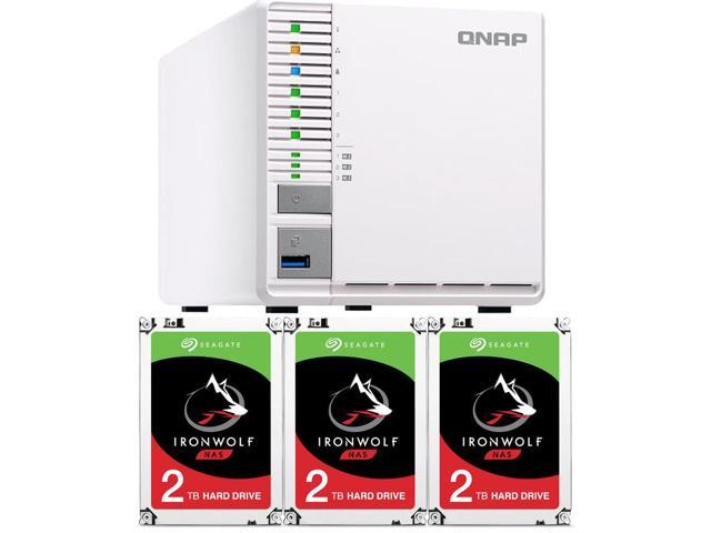QNAP TS-332X 3-Bay 64-bit NAS with 4GB RAM and 6TB (3 x 2TB) of Seagate  Ironwolf NAS Drives Assembled and Tested - Newegg com