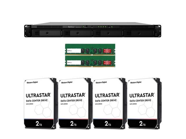 Synology RS1619xs+ RackStation with 16GB RAM and 8TB (4 x 2TB) of Ultrastar  Enterprise Drives Fully Assembled and Tested by CustomTechSales -