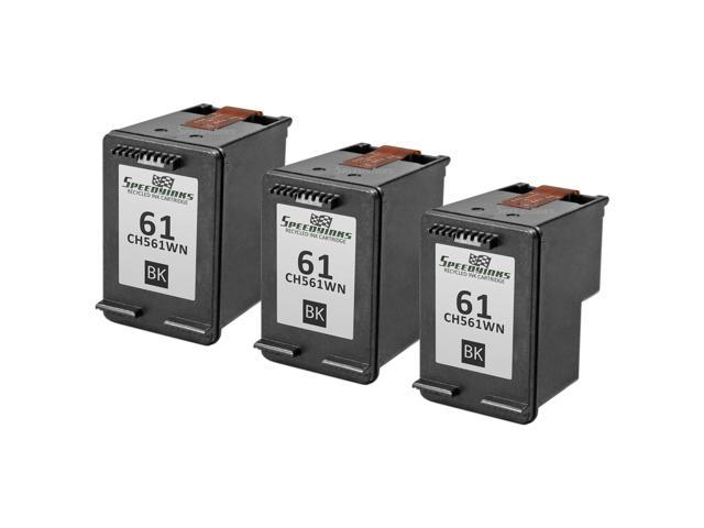 Speedy Inks - 3PK Compatible replacement for HP 61 CH561WN Black Ink  Cartridge for use in HP Deskjet 1000, 1010, 1050, 1051, 1055, 1056, 1512,  2050,