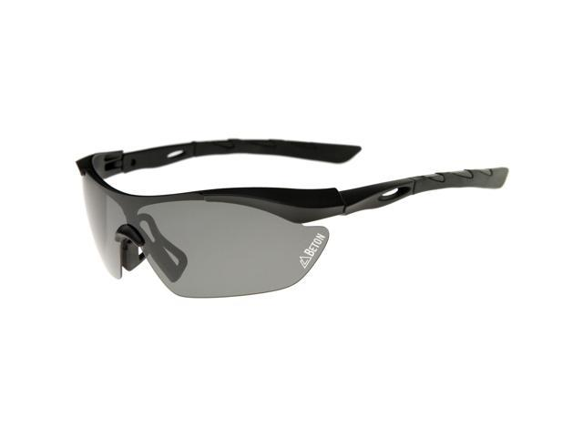 d9bc3b259f Beton - Nepal - Polarized Shatterproof Lens Half-Frame Sports Shield  Sunglasses 80mm (Matte Black   Smoke)