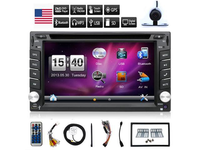 Bosion NEW Design Double Din Car Stereo DVD Player GPS Navigation Radio  Bluetooth 2 Din Capacitive Touch Screen support USB SD SWC Car Logo Multi