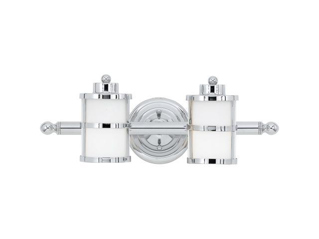 Quoizel 2 Light Tranquil Bay Bath Fixture In Polished