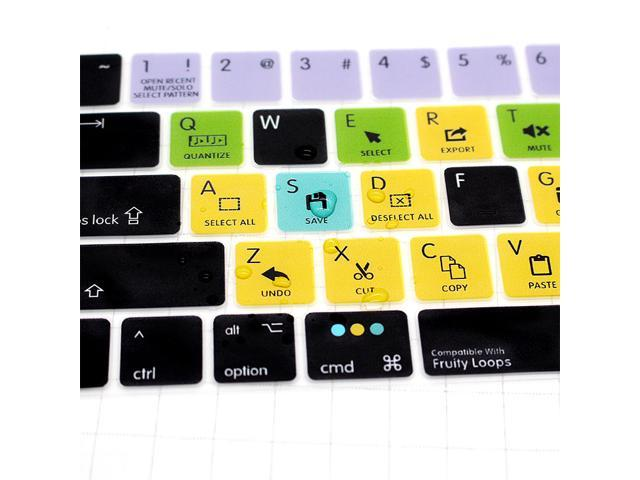 HRH FL Studio Fruity Loops Functional Hotkeys Shortcuts US Silicone  Keyboard Cover Protector For Macbook New Pro 13