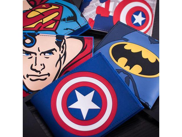 Marvel/'s The Avengers Lron Man Batman Men/'s Wallet Zip long Purse Holder Layers