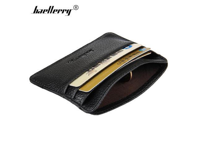ebeb9bfce587 Baellerry Slim PU Leather Card Wallet Men Small Credit Card Holder Women  Mini Wallets Male Brand Purse Minimalist Money Wallet - Newegg.com