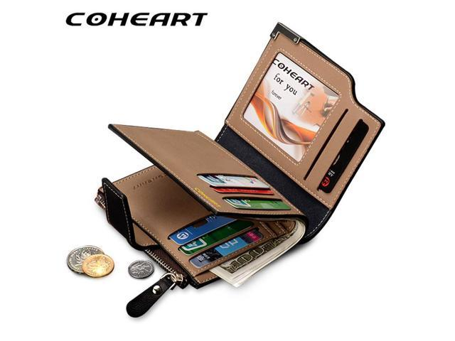 12b64cad55 COHEART Brand Wallet Men Leather Men Wallets Purse Top Quality male clutch  leather wallet man money bag quality guarantee !! - Newegg.com