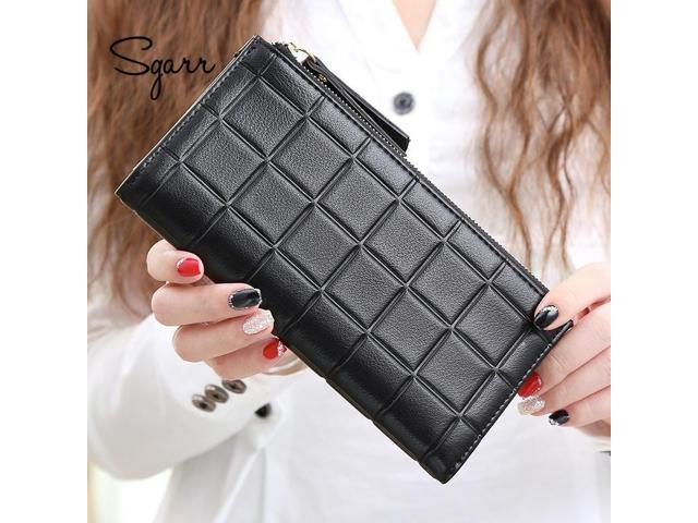d34902ee2653 SGARR Fashion Women Purse PU Leather Wallet Female Long Designer Zipper  Phone Pocket Causal Coin Purses For Girls - Newegg.com