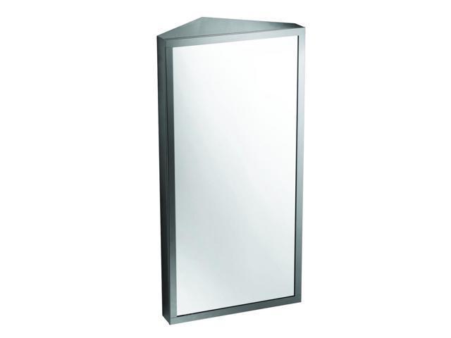 Stainless Steel Bathroom Corner Wall Mirror Cabinet Mc101: Wall Mount Corner Mirror Medicine Cabinet Polished