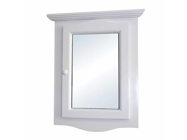 Two Shelves Wall Mount White Recessed