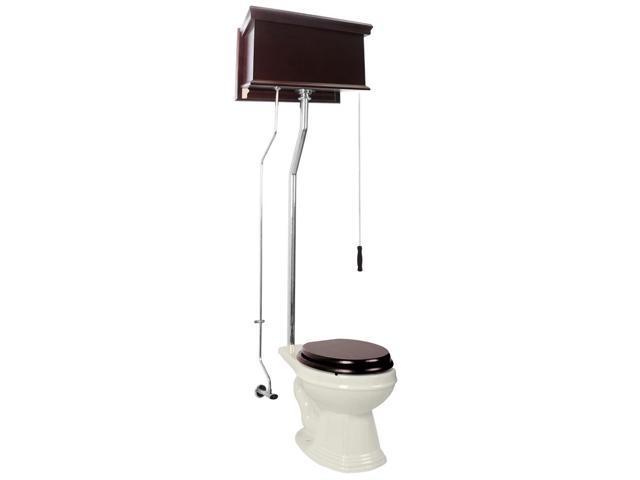 Groovy Dark Oak High Tank Pull Chain Toilet Biscuit Elongated Chrome Cjindustries Chair Design For Home Cjindustriesco