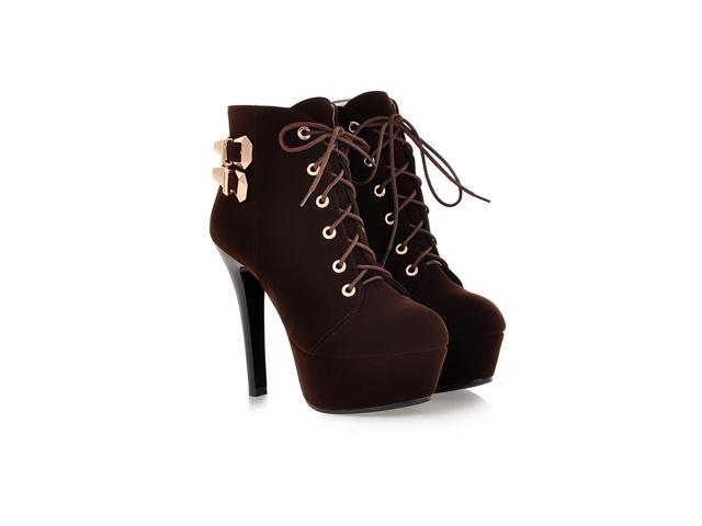 size 40 732a2 fece7 spring and autumn high heels ankle boots new red bottom high heels Lace-up  women boots US Size 4-13 - Newegg.com