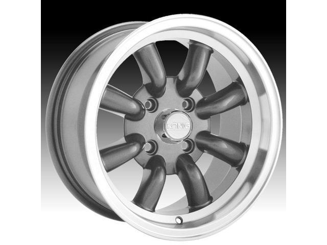 Konig Rewind Graphite Wheel with Machined Lip 16x7//4x114.3mm