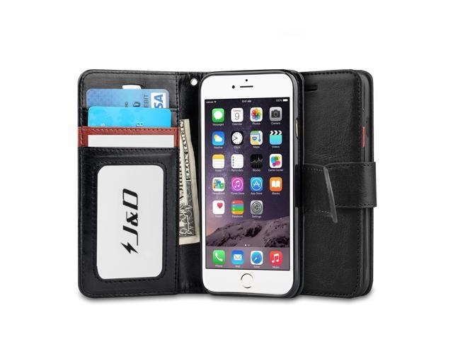 lowest price 65309 7b228 iPhone 6S Case, iPhone 6 Case, J&D [Wallet Stand] [Slim Fit] Heavy Duty  Protective Shock Resistant Flip Wallet Case for Apple iPhone 6S, Apple  iPhone ...