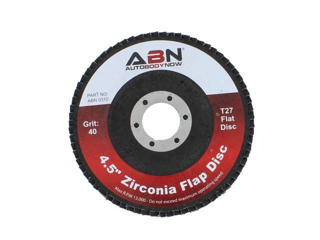 "x 7//8 T27 40 Grit High Density Zirconia Alumina Flat Flap Disc 4-½"" ABN 4.5"""