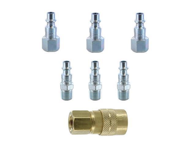 "Milton 727 M Style Pneumatic Coupler Plug 1//4/"" NPT 10 Pack"