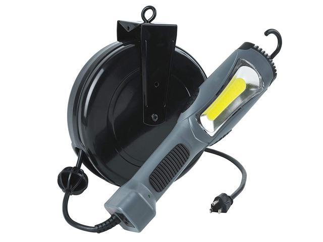 8 Watt Bright 900 Lumen COB LED Cord Reel Garage Shop Work Light 5050CL8