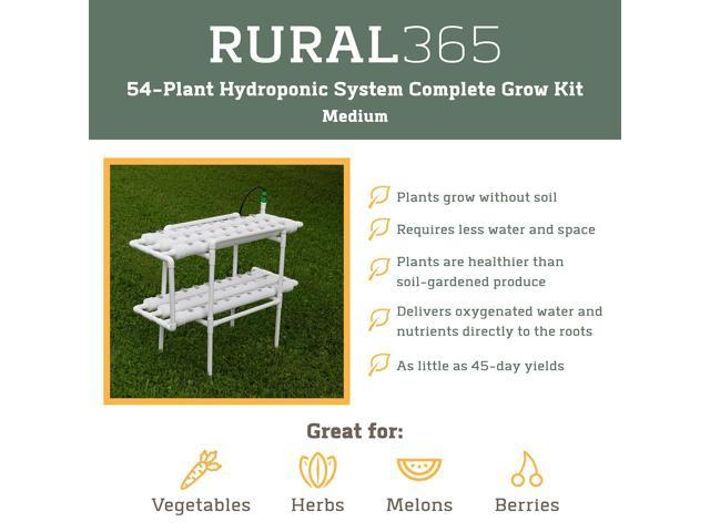 Medium Hydro Plant Growing Kit For 54 Plants Rural365 Hydroponic Grow Kit Complete Hydroponics Growing System Kit Germination Kits