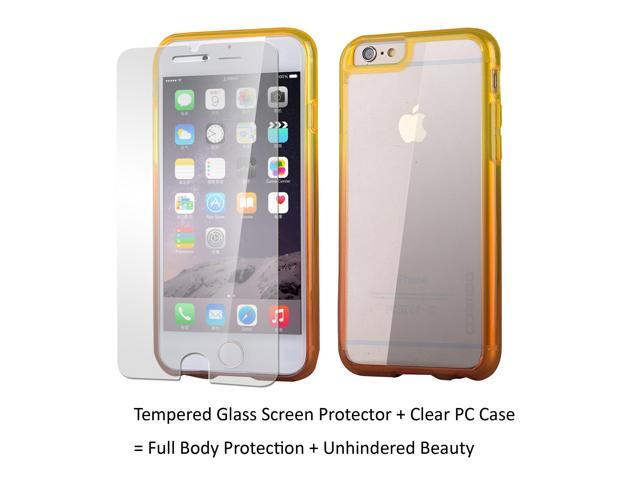 cheap for discount 26dfc 0dfc9 Apple iPhone 6 Plus Case iPhone 6S Plus Case, Anti Scratch Resistant,  Clambo clear case for iPhone 6 Plus iPhone 6S Plus + Tempered Glass Screen  ...