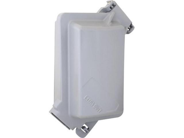 Sigma Electric 14245WH 1-Gang Horizontal Duplex Cover White