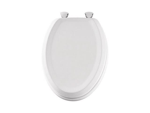 Pleasant Mayfair 125Ec 000 Elongated Wood Toilet Seat In White Ibusinesslaw Wood Chair Design Ideas Ibusinesslaworg