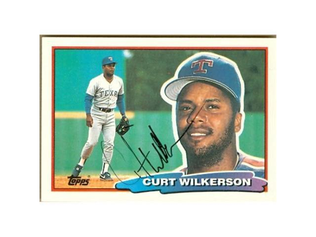 Autograph Warehouse 26116 Curtis Wilkerson Autographed 1988 Topps Big Baseball Card Texas Rangers Neweggcom