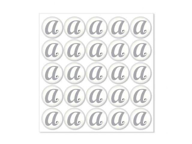 weddingstar 9400 h monogram with single rhinestone epoxy sticker