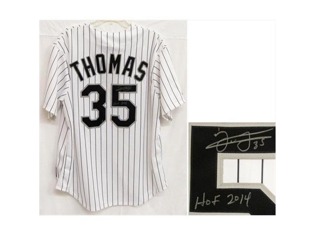 the best attitude 5d26f 51db8 Frank Thomas Signed Chicago White Sox Majestic White Pinstripe Jersey With  HOF 2014 - Newegg.com