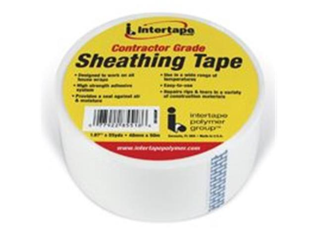 Intertape Polymer 5518USW 1 89 In  x 55 Yd White Sheathing Tape - Newegg com