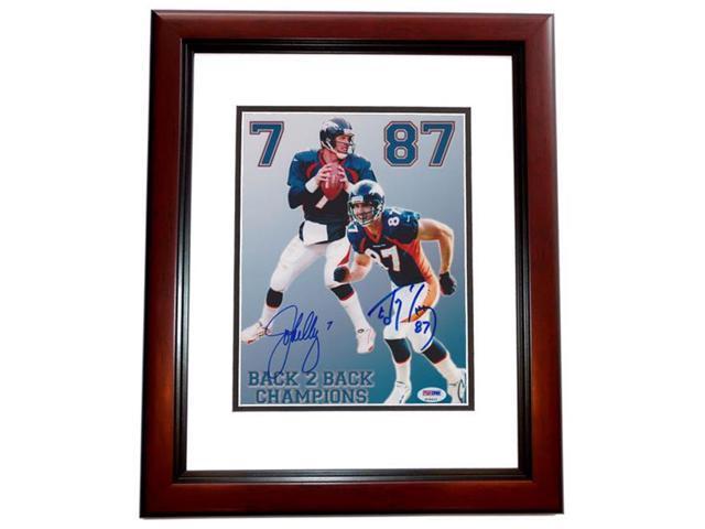 reputable site 76d4c bca2f John Elway And Ed Mccaffrey Dual Autographed Denver Broncos 8X10 Photo  Mahogany Custom Frame - Psa/Dna Authenticated - Newegg.com
