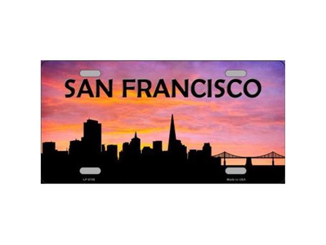 san francisco skyline silhouette metal license plate newegg com