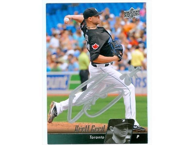 Autograph Warehouse 35912 Brett Cecil Autographed Baseball Card Toronto Blue Jays 2010 Upper Deck Baseball Card No 512 Neweggcom