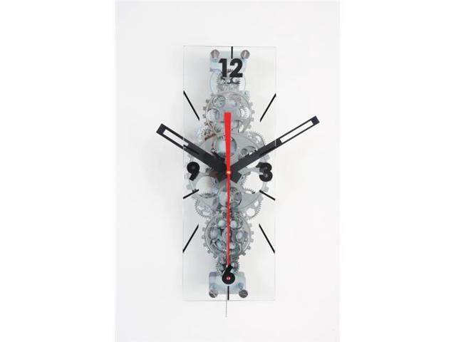 Maples Clock Gcl06 78 22 In X 8 In Large Moving Gear Wall Clock