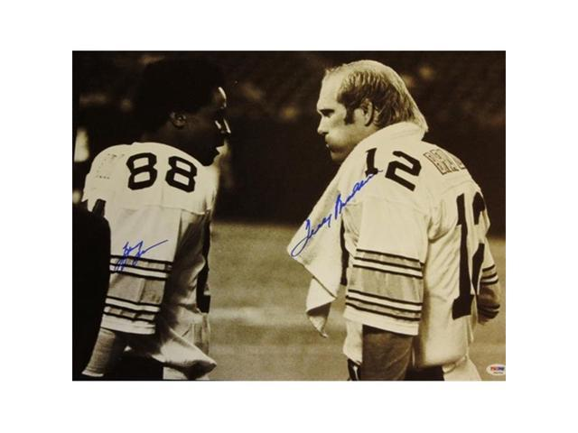 231f5d72f Lynn Swann And Terry Bradshaw Autographed Pittsburgh Steelers 16X20 Photo  With Psa Dna Authenticity