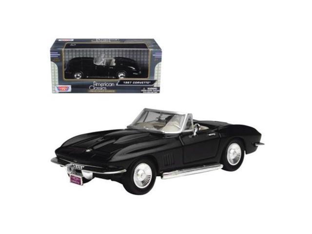 Motormax 1967 Chevrolet Corvette Black Convertible 1//24 Diecast Car Model