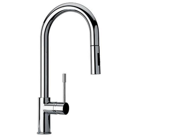 Jewel Faucet 25592-82 Single Hole Kitchen Faucet - 19 L x 10 W x 4 D in.,  Brushed Gold Designer Finish