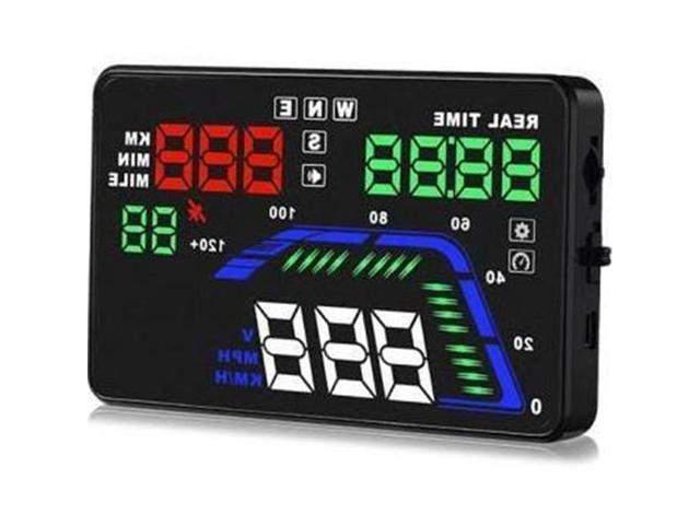 Heads Up Display HUD Screen Vehicle Speed /& GPS Compass HUD Monitor System