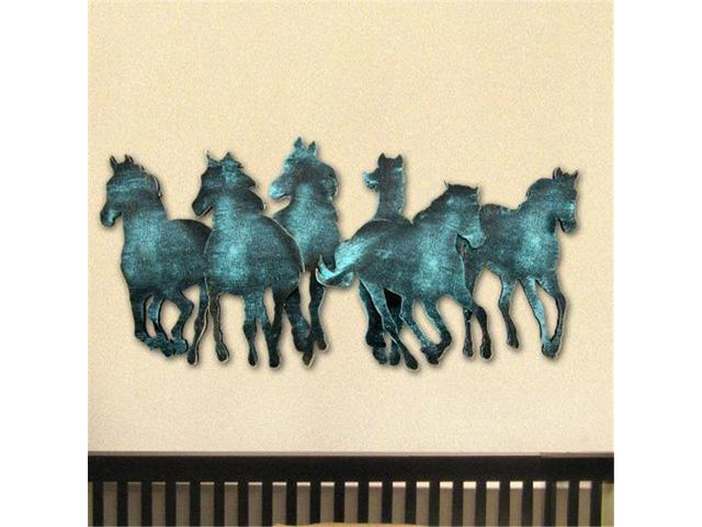 G Debrekht G98157sx 24 Wild Stallions Wooden Decorative Wall Art Multicolor