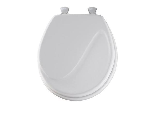 Pleasant Bemis Manufacturing 24Ec 000 Round Molded Wood Wave Toilet Seat White Newegg Com Bralicious Painted Fabric Chair Ideas Braliciousco
