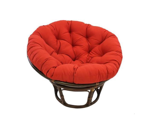 Marvelous International Caravan 3312 Tw Rr 42 In Rattan Papasan Chair With Solid Twill Cushion Ruby Red Cjindustries Chair Design For Home Cjindustriesco