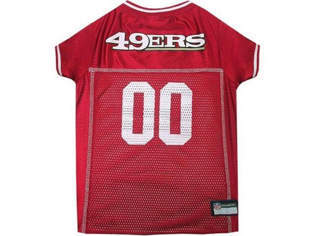 cheaper f799e 7a788 Pets First 849790035546 San Francisco 49ers Dog Jersey - White Trim - Extra  Small - Newegg.com