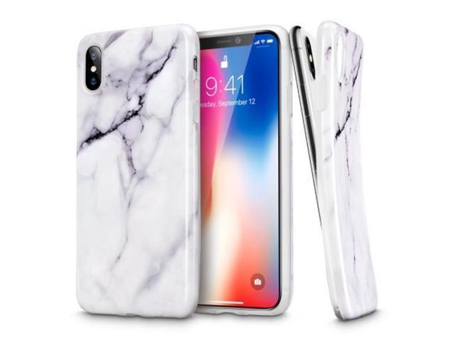 super cute ceb4f d6596 ESR ACER0039 Iphone X Marble Case Slim Fit Shell Soft, White - Newegg.com