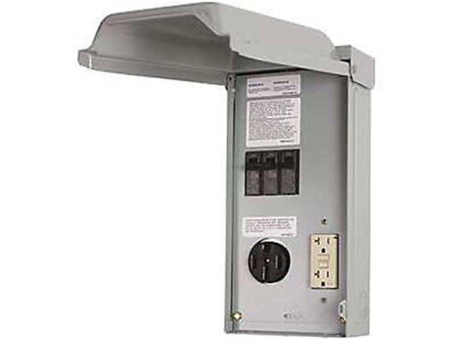 Rv Electrical Outlet >> Ge Electrical 7111271 Ge1lu502ss 70a Gfci Rv Power Outlet Panels