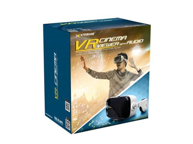 Xtreme Cables VR VUE Audio: Virtual Reality Viewer wBuilt in Headphones For Smartphone Black